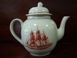 Wedgwood Teapot with Lid, Flying Cloud,Ann Kim, Clipper Ship, Georgetown Collection