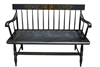"Vintage Hitchcock Furniture Black Spindle Back Deacon's Bench 20""D x 45""W x 33""H"