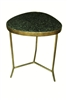 Interlude Home Selat Accent Table, Marble, Iron, Retail $380