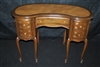 Small Leather Inlay Kidney Desk