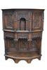 Antique American Gothic Revival Carved Wood Cupboard