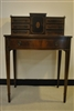 Antique Petite Mahogany Hepplewhite Desk, Leather Inlay