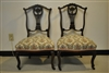 Pair of Antique Ladies Slipper Chairs