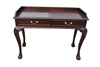 Hand Carved Mahogany Chippendale Style Writing Desk, Console Table