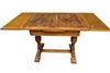Antique Oak English Pub Draw Leaf Dining Table Ca 1920