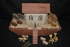 "Antique Handcrafted, Hand Painted Noah's Ark, Solid Wood, 21 Pieces, 42""W x 28.5""H"