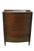 Antique Sheraton Style Bowfront Chest of 5 Drawers