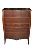"Vintage Berkey & Gay 5 Drawer Chest, Mahogany, 35""W x 47""H"