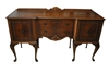 "Vintage Queen Anne Style Sideboard, Buffet, Flaming Mahogany, 66.5""W"