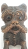 Antique Black Forest Dog Figure Inkwell