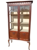 "Antique Queen Anne Style Display Curio Cabinet 70""H"