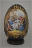 Vintage Limoges Hand Painted Egg Fragonard Style Cobalt Blue Gold