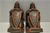 "Set of Vintage Knight Bookends, Armor Bronze, 2 Sets Available, 7.5""H, Circa 1922"