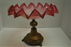 Vintage Ruffled Edge Cranberry Glass Compote