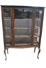 Antique Mahogany Queen Anne Style Display China Cabinet Ca 1920