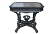 Spectacular Eastlake Ebony Marble Top Victorian Era Occasional Center Table