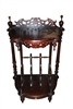 Victorian Style Solid Mahogany Console Etagere Magazine Rack