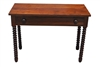 "Antique Jenny Lind Writting Desk Solid Walnut Ca 1840 40""W"