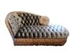 Most Luxurious Chaise Ever! Tufted Silk Velvet