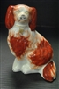 "Staffordshire Dog, Rust and White, 7.5""H"