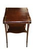 "Leather Top Side Table "" Zangerle & Peterson"""