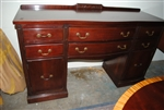 Finch Thomasville Knee Hole Sideboard, Bow Front, Mahogany