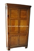 Antique Early American Pine Corner Cupboard Cabinet, Late 18th Century