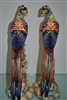 "Pair of Mottahedeh Williamsburg Brighton Pavilion Hand Painted Porcelian Birds 16""H"