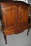 Late 19th Century French Walnut Cupboard On Stand, China Cabinet