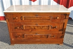 Antique Victorian Walnut Dresser Marble Top Circa 1880