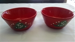 Waechtersbach Christmas Tree Pattern 2 Coupe Bowls 5""