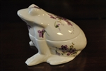 Hammersley, Member of Spode Group, Frog Trinket Box, Victorian Violets, Bone China