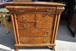 Antique Large Tiger Oak Chest of Drawers CA1890