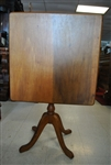 Solid Wood, Square, Tilt Top Table, Circa 1900