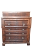 Antique American Empire, Gentleman's Chest, Mahogany, Circa 1840