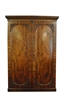 Antique Wilkinson Linen Press, Armoire, Flaming Mahogany, Circa1815