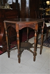 Antique Octagonal Walnut Radio Table Ca 1920s