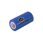 AW LiFePO4 RCR 123 3.2V 500mAh Rechargeable Battery