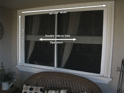 "Double Window, Side-to-Side, Screen 60"" to 104"" wide x Less than 25"" tall"