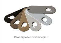 Plisse retractable screen standard colors.