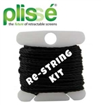 Plisse Single Retractable Screen Restring KitSingle Retractable Screen Replacement Fabric Assy