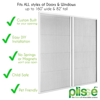 Double Plissé Retractable Door Screen