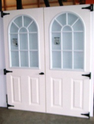"SET of 30 1/2"" x 72"" 11 Lite Fiberglass Garden Doors  CLICK PICTURE FOR MORE DETAILS"