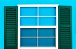 "24x27 Window with 9"" x 27"" Forest Green Shutters    SHIPS FREE"