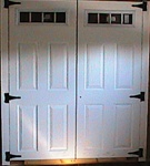 "2-30 1/2"" x 78"" 4 Lite Fiberglass Doors  SHIPPING IS FREE"