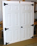 "SET of 35 3/4"" x 78"" 6 Panel Fiberglass Shed doors    SHIPS FREE"