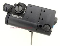 LDI OTAL-A (Matte Black CR123A) Red Aiming Laser