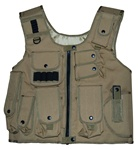 TG106T Tan Adjustable Quilted Tactical Vest - 3L-INTL