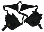 TG208BB-2 Black Horizontal Shoulder Holsters (2 pcs) - 3L-INTL