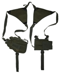 TG208GA-3 Green Horizontal Shoulder Holster and Pouch (3 pcs) - 3L-INTL